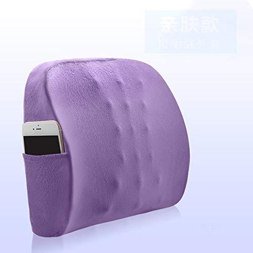 ZFLL Ergonomisch design lendensteun traagschuim massager ondersteuning voor de onderrug kussen voor autostoel bureaustoel zacht in het taille kussen