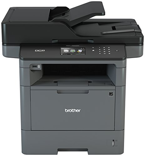 Brother Monochrome Laser Printer, Multifunction Printer and Copier, DCP-L5650DN, Flexible Network Connectivity, Duplex Print & Copy & Scan, Mobile Device Printing, Amazon Dash Replenishment Ready