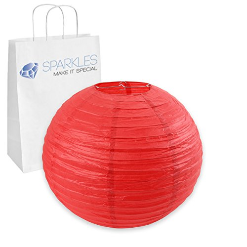"""Sparkles Make It Special 75-pcs 16"""" inch Chinese Paper Lantern - Red - Wedding Party Event Decoration - 13 Colors and 8 Sizes Available"""