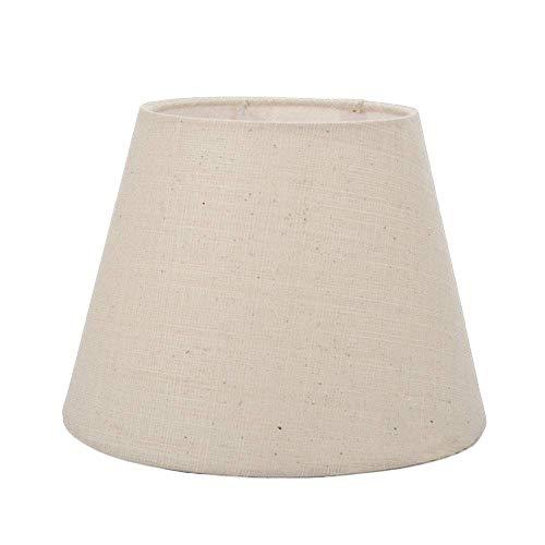 ADSE Pantalla para lámpara de Mesa, Tela de Lino, Pantalla para lámpara de Pared, lámpara de pie, Redonda, Tornillo E27, 30 cm