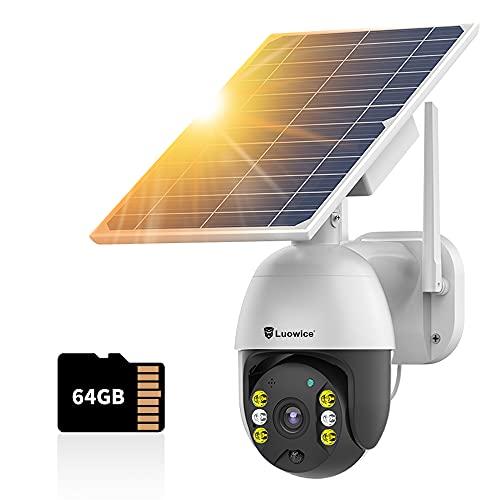 Solar Security Outdoor 2-Way Audio …