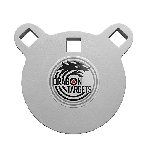 Dragon Targets AR500 Steel Targets ½ Inch Thick Laser Cut, Painted and Ready to Shoot AR500 Gong and Reactive Targets Made in USA (4 in)