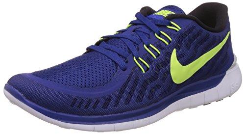 Nike Men's Free 5.0 Running Shoes Deep Royal Blue/Racer Blue/White/Volt Size 10 M US