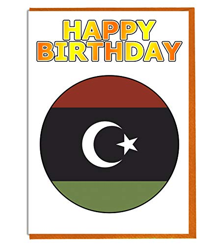 Libyen-Flagge – Geburtstagskarte – Fre& – Familie – Kollege – Mate – Boss – Loved One