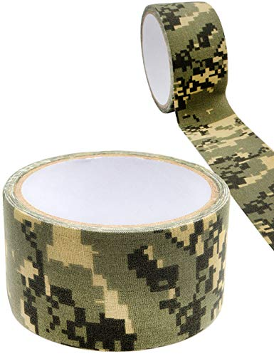 Outdoor Saxx® - Camouflage Klebe-Band, Panzer-Tape, Gewebe-Band, Gaffer-Tape, wasserfest, zur Tarnung von Kamera, Ausrüstung, Jäger, Angler, Fotografen, 5m, Jungle Camouflage, matt