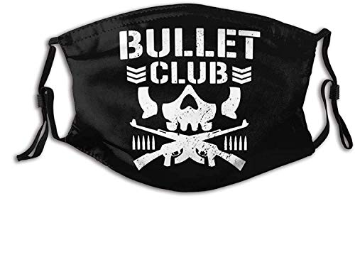 Face Mask Bullet Club Outdoor Mask,Protective 5-Layer Activated Carbon Filters Adult Men Women Bandana 3D Printed Cover