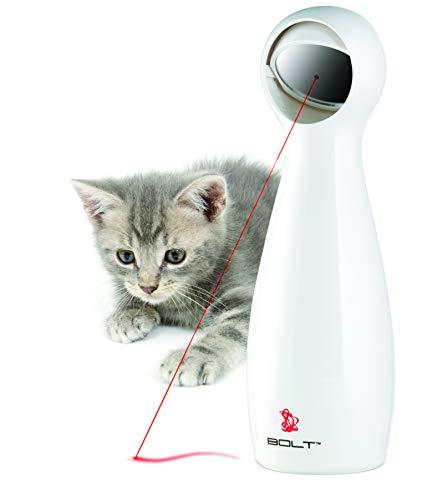 PetSafe Laser BOLT Katzenspielzeug, Elektrisches Katzenspielzeug, Automatischer Laserpointer, Interaktives Katzenspielzeug mit Laserpointer, Anpassbarer Spiegel für Lasermuster, Alte Verpackung