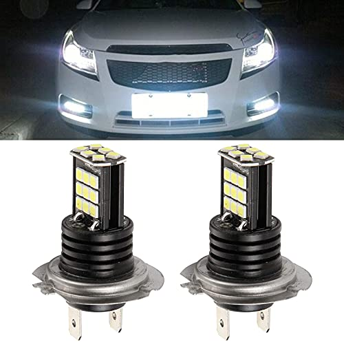 ConBlom Ampoules H7 LED Phare pour Voiture et Moto, 2400LM 6000K Ampoules Auto de Rechange pour Lampes Halogènes et Kit Xenon, 2 Ampoules (H7)