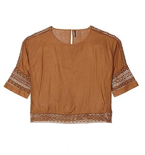Freequent Damen Loretta-BL Bluse, Braun (Camel Cream 8082), Small