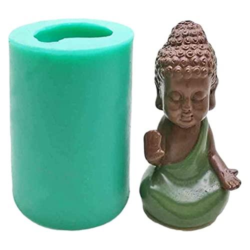 3D DIY仏フォンダンシリコーンモールドキャンドルカビ用クラフトキャスティングパーフェクト鋳型オーブン、電子レンジ、食器洗浄機、冷蔵庫に使用できます。 (Color : D)