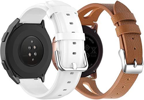 Reloj de Correa Cuero 20mm, Hombre Repuesto La Correa (20mm,