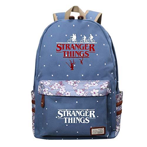 Stranger Things Zaini Casual Zaino casual Borsa da scuola per donna Zaino per scuola superiore Zaino coreano marea multicolore unisex (Color : A24, Size : 30 X 14 X 42cm)