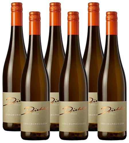 Weingut Diehl Grauburgunder – Trockener Weißwein aus der Wein-Region Pfalz (6 x 0,75l)