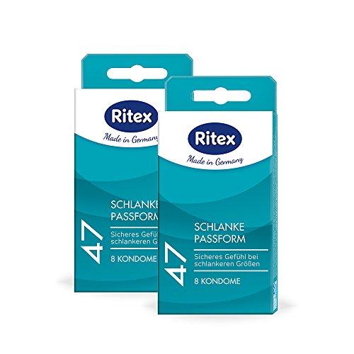 Ritex 47 Kondome, Kleines Kondom, Sicheres Gefühl durch festeren Sitz, 16 Stück, Made in Germany