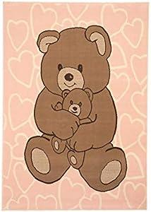 Trendline - Tappeto per Bambini - Orsi - Pastello Rosa - 5 Dimensioni