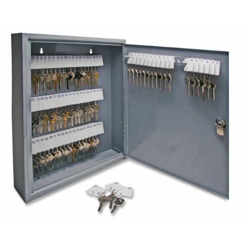 Sparco Secure Key Cabinet, 14 x 3 x 17-1/8 Inches, 80 Keys, Gray (SPR15603)