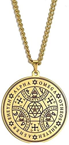 NC198 Collar Tetragrammaton Amuleto ColganteCollares Talismán 60Cm