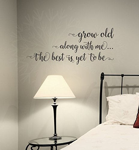 """Wall Decor Plus More WDPM3879 Grow Old Along with Me Bedroom Wall Saying Vinyl Decal Stickers, 23x10-inch, Black, 23"""" x 10"""","""