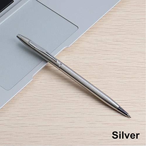 Qkdop 1 stuks. Metalen balpen 0,7 mm gebruikersvriendelijke reclame balpen voor school cadeauset student briefpapier kantoormateriaal pennen