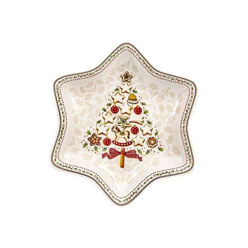 Villeroy & Boch Winter Bakery Delight Cuenco en Forma de Estrella, Porcelana, Multicolor, 26.5x26.5x7.5 cm