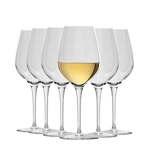 Krosno - Juego de 6 Copas de Cristal de Cristal, 450 ml, 8 x 21,5 cm