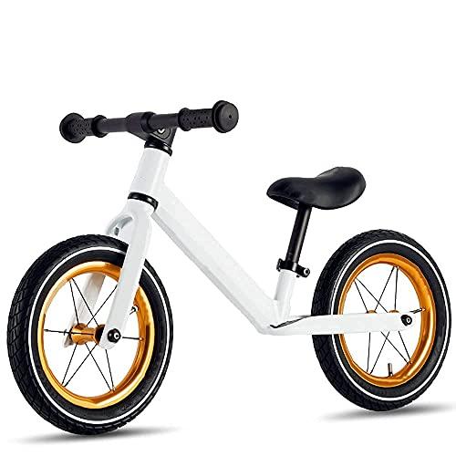 YMDA Self-Balancing, 12-Inch Aluminum Balance Bike with Adjustable Seat Height, PU Foam Pad, TPR Environmentally Friendly Grip, Easy Riding