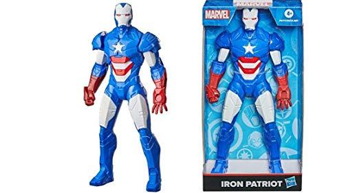 Boneco Marvel Homem de Ferro Patriota - Figura de 24 cm, para crianças acima de 4 anos - F0777 - Hasbro