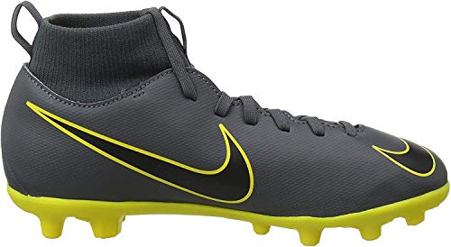 Nike Unisex-Kinder Superfly 6 Club MG Fußballschuhe, Grau (Dark Grey/Black/Opti Yellow 070), 35 EU