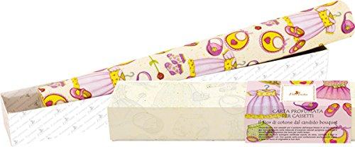 Schrankpapier–Blumen-Baumwolle–5Blatt cm.45x 61–Umweltpapier