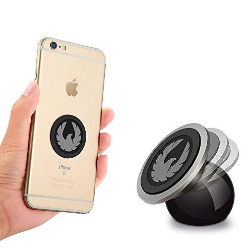 Soporte Movil para Coche Magnetico Universal Soporte del Coche del Teléfono 360° Rotación Ultra Slim Fuerte Pegajoso Dash Mount para iPhone telefonos moviles GPS (Eagle)