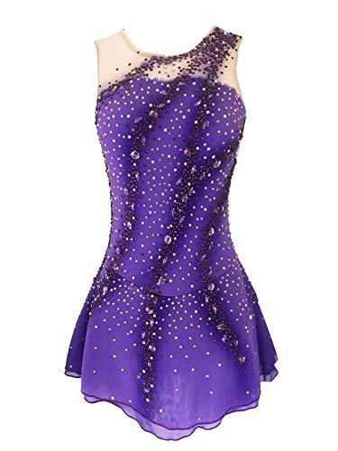 SISHUINIANHUA Vestido de Patinaje sobre Hielo de Las niñas de Patinaje artístico Vestido de Las Mujeres la Ropa del Funcionamiento competitivo de la Gimnasia rítmica del Traje del Ballet,XXXXL