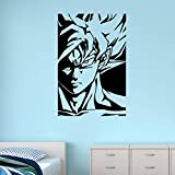 Japanische Anime Cartoon Kampf niedlich lustig Goku Kind Erwachsene Super Saiyajin DIY Vinyl Wandaufkleber Dragon Ball DBZ Jungen Kinderzimmer Wohnzimmer Schlafzimmer Aufkleber 42 * 63cm