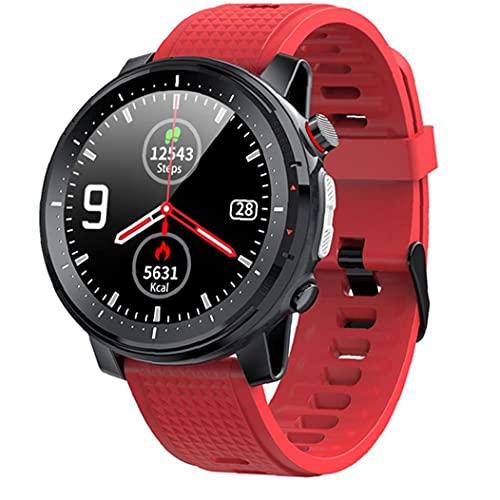 FeelMeet Inteligente Reloj Bluetooth Pulsera de los Deportes IP68 a Prueba de Agua Pantalla táctil Hombres Mujeres Aptitud del Reloj rastreadores Rojo