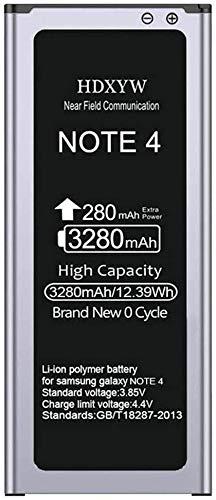 HDXYW Akku für Samsung Galaxy Note 4 Verbesserte Ersatz Handy-Akku für 3280 mAh-Ohne NFC Ersatz Hochleistungsakku für Samsung Note 4