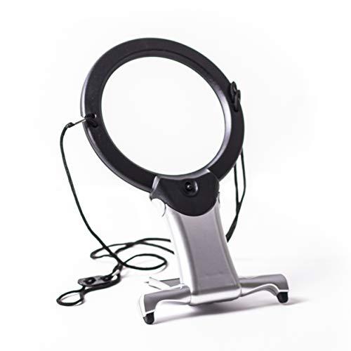 PURELITE LED 2-in-1-beleuchtet Freisprecheinrichtung Lupe, Kunststoff, weiß