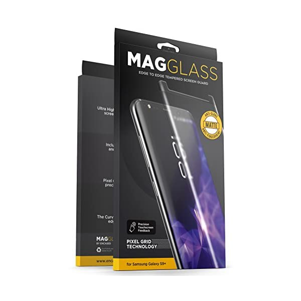 Samsung Galaxy S9 Plus Matte Screen Protector – Curved Fingerprint Free Tempered...