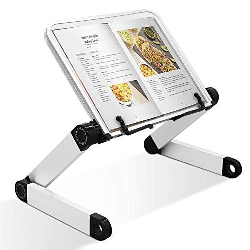 VFZILH Buchhalter Multifunktional Buch Halterung mit Büroklammern Kochbuchhalter für Küche und Büro-Buchständer Faltbar Einstellbare für PC Buch Tablet iPad Lehrbücher Steht Musicbook