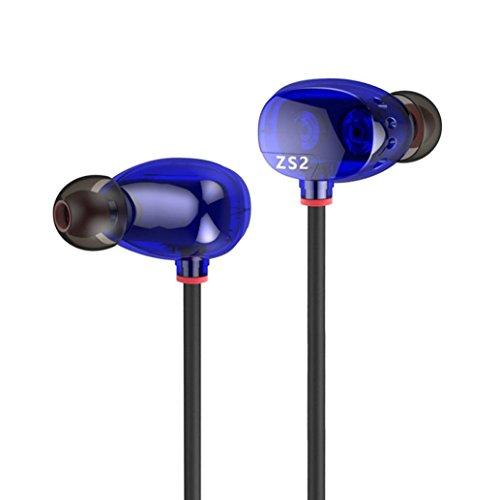 ZoonPark® HIFI Bass Stereo Oortelefoon Hoofdtelefoon Hoofdtelefoon, Originele KZ Dual Driver Hifi In-Ear Oorstuk, Zware Bass Muziek en Wide Sound Field Monitoring Stereo Geluid Ruisonderdrukkende Hoofdtelefoon Mic Oordopjes voor iPhone / Samsung / LG / HTC/MP3 MP4