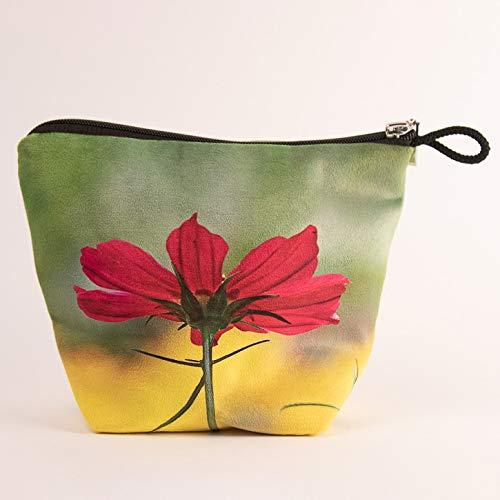 Sandrine Marbach Leere Tasche + Reißverschluss Kollektion Blumen – Cosmo Fuchsia Hintergrund Gelb
