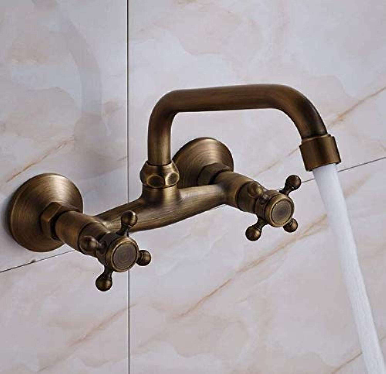 Retro Wasserhahn Messing Schwarz Bronze Becken Wasserhahn Waschbecken Wasserhahn Wasserfall Auslauf Mischbatterie Wandhalterung