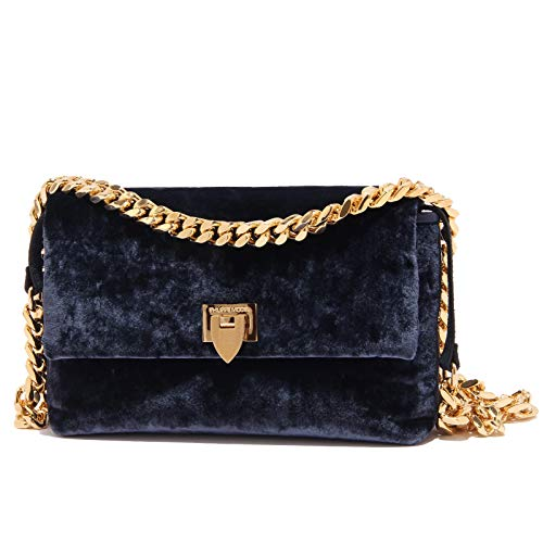 Philippe Model 3130Z mini borsa a tracolla NANCY velour blue bag [ONE SIZE]
