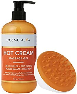(260ml Combo with Cellulite Massager) - Hot Cream Massage Gel with- Cellulite Massager 260ml:: Anti- Cellulite, Skin Tight...