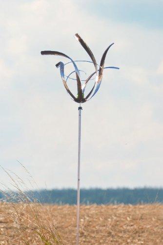 ERRO Wind Dancer Tulpe Windspiel 2708 - Ausgefallene Geschenkidee, edle Edelstahl Gartendeko: Windchime tolles Geburtstagsgeschenk, Winddeko, Windrotor, Windrad, Windläufer