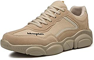 HAWEEL Round Head Outdoor Comfortable Breathable Casual Shoes Lovers Shoes (Color:Beige Size:36)