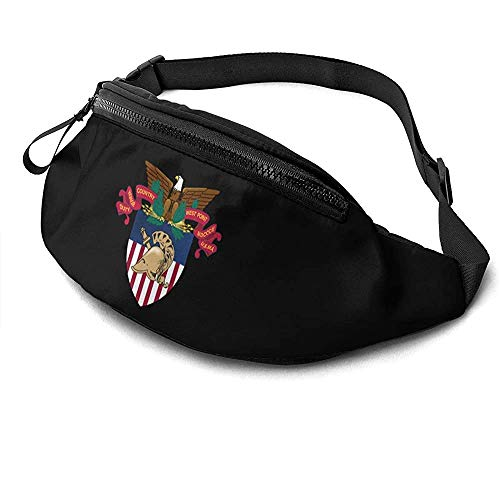 NA West Point Military Academy West Point Academy Logo Runner's Fanny Bag Waist Pack Adjustable Straps Pocket with Headphone Jack for Unisex