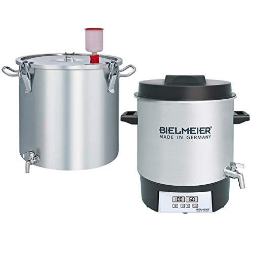 BIELMEIER Bierbrauset 10 teilig zum selber Bier brauen Edelstahl 27 Liter 1800 Watt bestehend aus: BHG410 + BHG420