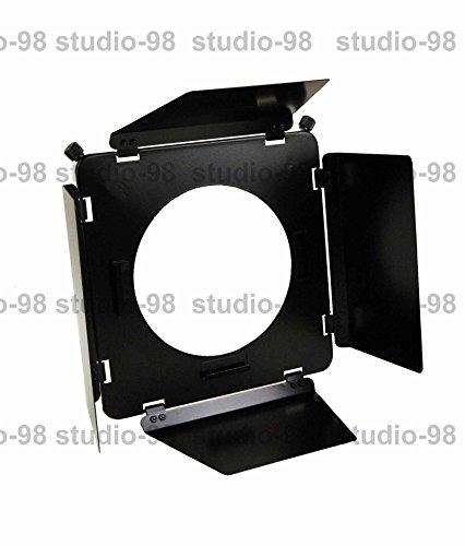 Studio-98 4-leaf Photography Metal Barndoor Barn Door with Metal Grid & 4 Color Gel Set Mount on 7.5