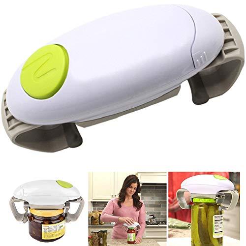 GENRIC Apriscatole Elettrico,Apriscatole per Cucina del Ristorante,Apriscatole Automatico Portatile,Bordo Pulito e Liscio,per Anziani con Artrite,Green