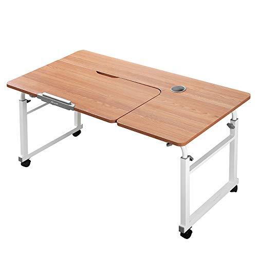 VBARV Tragbare Beistelltisch für Bett, Sofa Beistelltisch Schreibtisch mit Rollen, 8 Gänge Kipptisch Top, Höhe und Länge verstellbar, Rollen Interactive ergonomische Arbeitsplätze, für Wohnzimmer