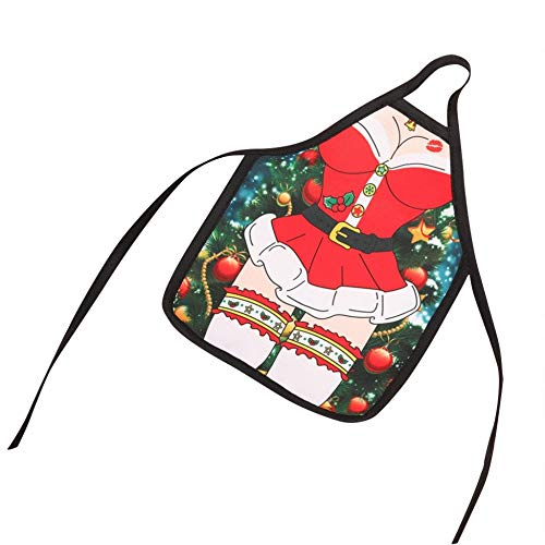 QACFD 10 Pieceschristmas Grembiule Set di Bottiglie di Vino Rosso Cover Sexy Babbo Natale Borse da Vino Decorazioni Natalizie Mini Borse Regalo di Capodanno